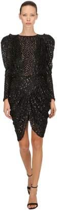 Isabel Marant Margaret Viscose & Silk Organza Dress