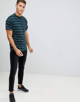 New Look oversized t-shirt in green stripe