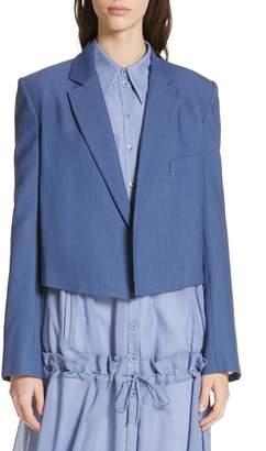 Tibi Stretch Suiting Crop Jacket