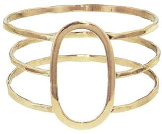 Melissa Joy Manning Three Band Oval Ring - Yellow Gold