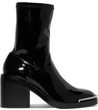 Alexander Wang Hailey Metal-trimmed Pvc Ankle Boots - Black