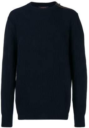 Ermenegildo Zegna side zip knitted sweater