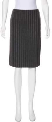 Alexander McQueen Wool Knee-Length Skirt
