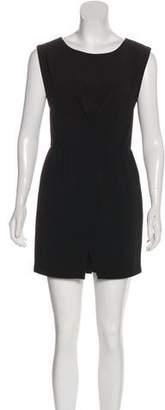 Halston Scoop Neck Mini Dress