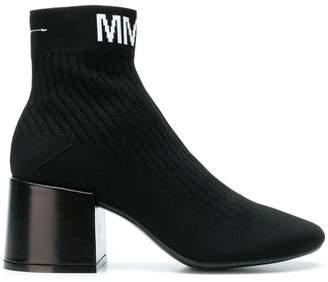 MM6 MAISON MARGIELA (エムエム6 メゾン マルジェラ) - Mm6 Maison Margiela ロゴ ソックスブーツ