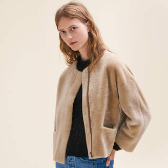 Maje Reversible sheepskin jacket