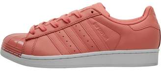 adidas Womens Superstar Metal Toe Trainers Tactile Rose/Footwear White