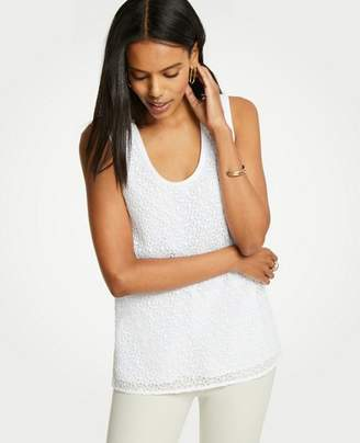 Ann Taylor Petite Lace Front Shell