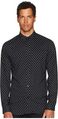 The Kooples Printed Shirt with A Classic Collar Men's Long Sleeve Button Up