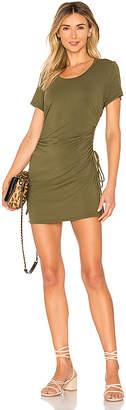 Bobi Draped Modal Jersey Ruched Dress