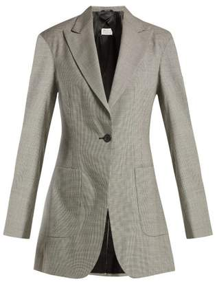 Maison Margiela Pied De Poule Wool Jacket - Womens - Grey