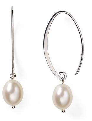 Bloomingdale's Sterling Silver and Cultured Freshwater Pearl Drop Earrings, 8mm - 100% Exclusive