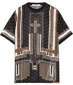 Givenchy Printed Silk-Chiffon T-Shirt