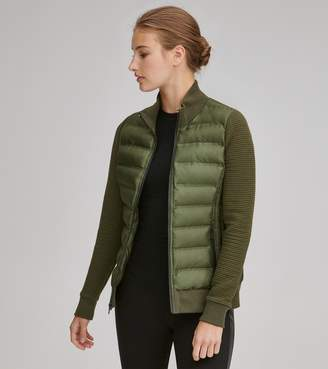 Mny Performance AUBREE PUFFER WITH KNIT SLEEVES