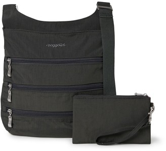 Baggallini Women's Big Zipper Bag with RFID Pouch