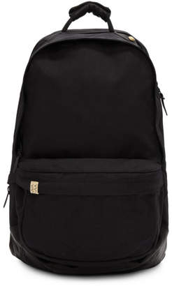 Black Cordura and Leather 22L Backpack