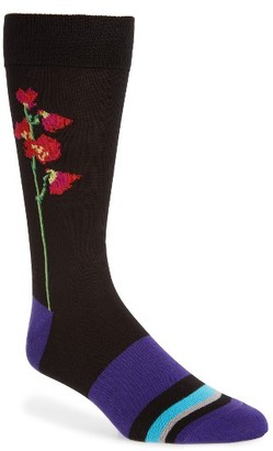 Men's Paul Smith Mainline Floral Socks $30 thestylecure.com