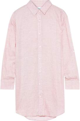 Onia Marie Striped Washed-voile Coverup