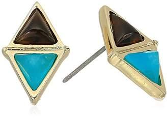 Laundry by Shelli Segal Double Stone Stud Earrings