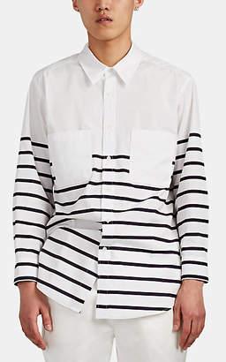 3bdd7f838e82 Sies Marjan Men's Striped Cotton-Blend Oversized Shirt - White
