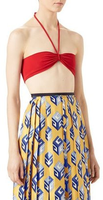 Gucci Loved Halter Swim Top, Red $450 thestylecure.com