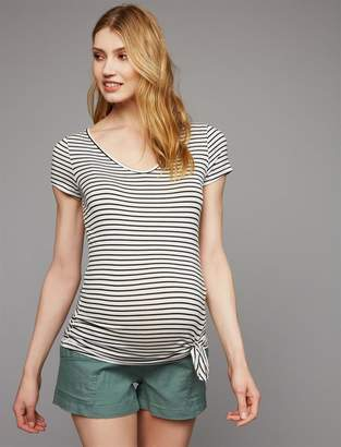 A Pea in the Pod Secret Fit Belly Canvas Maternity Shorts