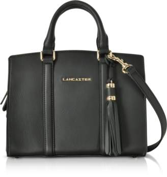 A.N.A Lancaster Paris Mademoiselle Black Leather Small Satchel Bag