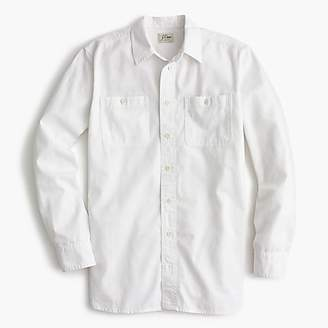 J.Crew Tall relaxed chambray boy shirt in white