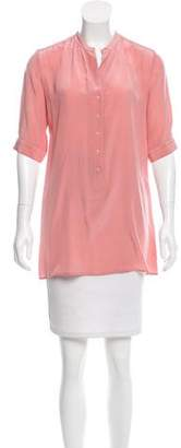 Tucker Silk Three-Quarter Sleeve Top