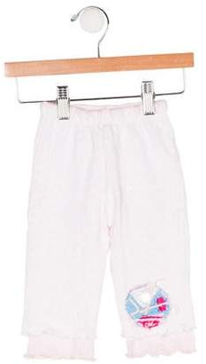Christian Lacroix Girls' Embroidered Knit Pants