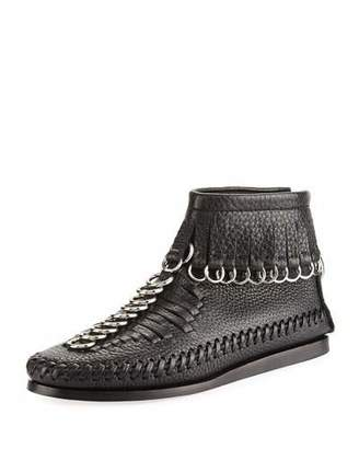 Alexander Wang Montana Pebbled Leather Moccasin Bootie, Black $795 thestylecure.com