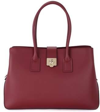 Furla Mira L Red Cherry Leather Handbag