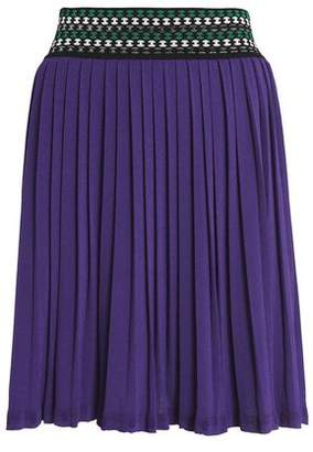 Missoni Pleated Stretch-Knit Mini Skirt