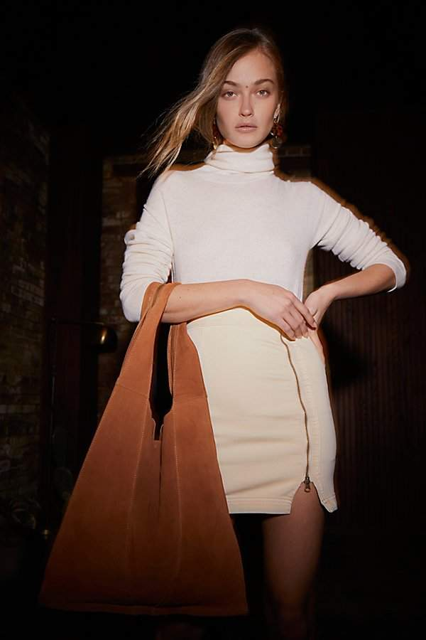 Slouchy Suede Hobo by Free People