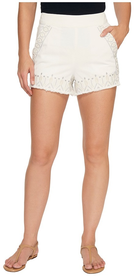 Blank NYCBlank NYC - Embroidered Shorts in Snow Flake Women's Shorts
