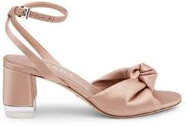 Prada Satin Knotted Ankle-Strap Sandals