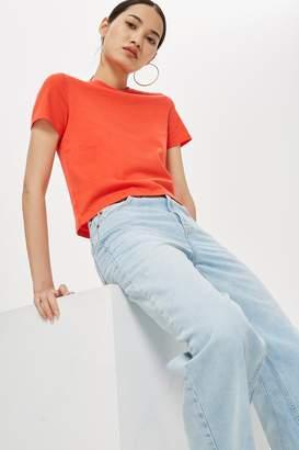 Topshop Womens Petite Basic Crop T-Shirt - Red
