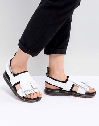 Dr. Martens Rosalind Leather Flat Sandal with Tassel Detail