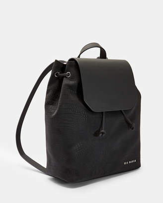 Ted Baker DEENISE Croc embossed backpack