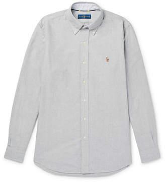 Polo Ralph Lauren Slim-Fit Button-Down Collar Mélange Cotton Oxford Shirt