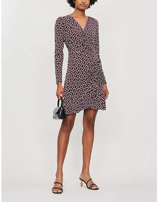 MICHAEL Michael Kors Geometric-print stretch-jersey midi dress