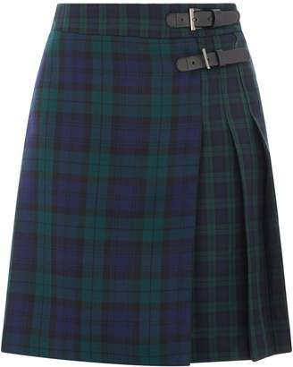Next Womens Warehouse Blue Pattern Tartan Mini Kilt