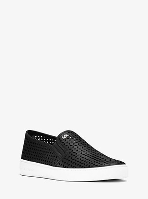 Michael Kors Olivia Perforated Leather Slip-On Sneaker
