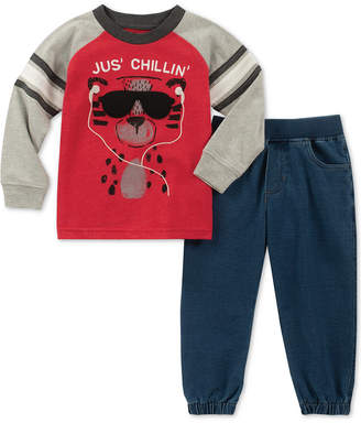 Kids Headquarters Toddler Boys 2-Pc. Just Chilling Graphic T-Shirt & Pants