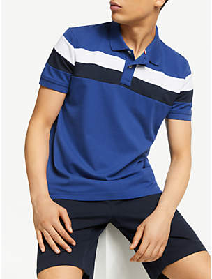 6dfad4b806290 Tommy Hilfiger Chest Stripe Slim Fit Polo Shirt