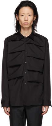Comme des Garcons Black Cotton Layered Shirt