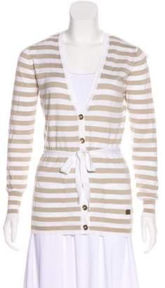 Burberry Striped Knit Rib Cardigan