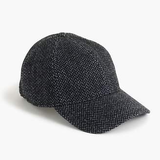 J.Crew Melton wool tweed ball cap