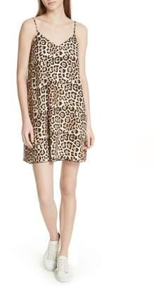 ATM Anthony Thomas Melillo Leopard Print Silk Slipdress