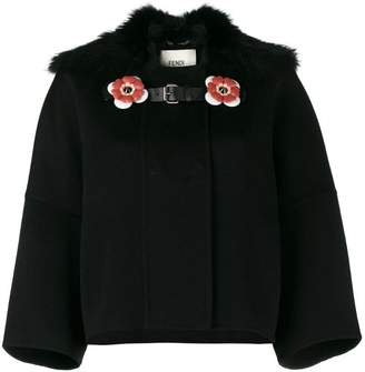 Fendi Fox collar cropped coat